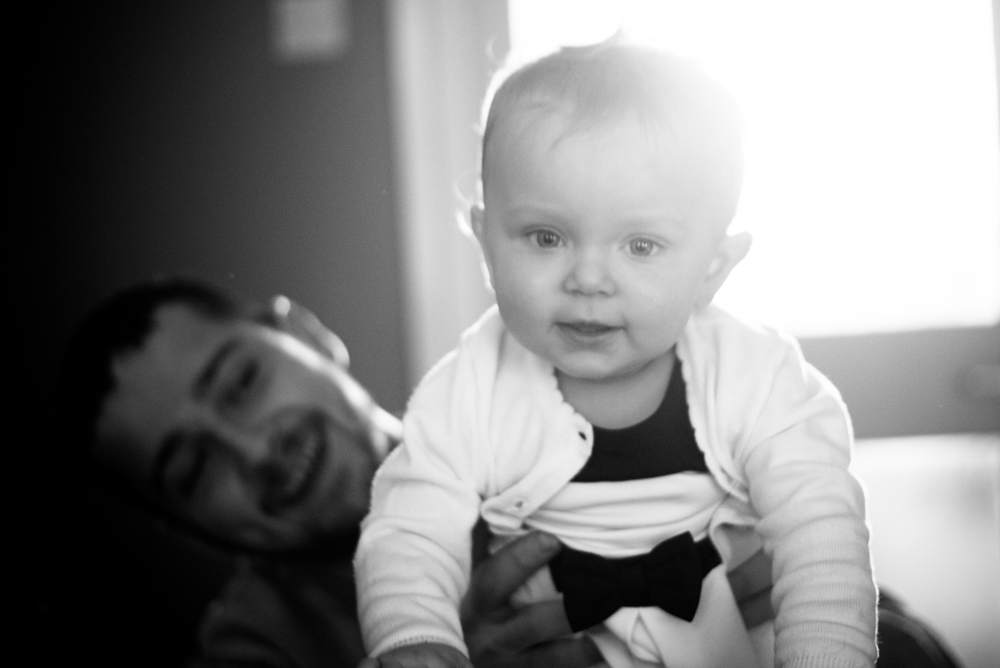 peekaboo playing with Dad, baby photographer Carlisle