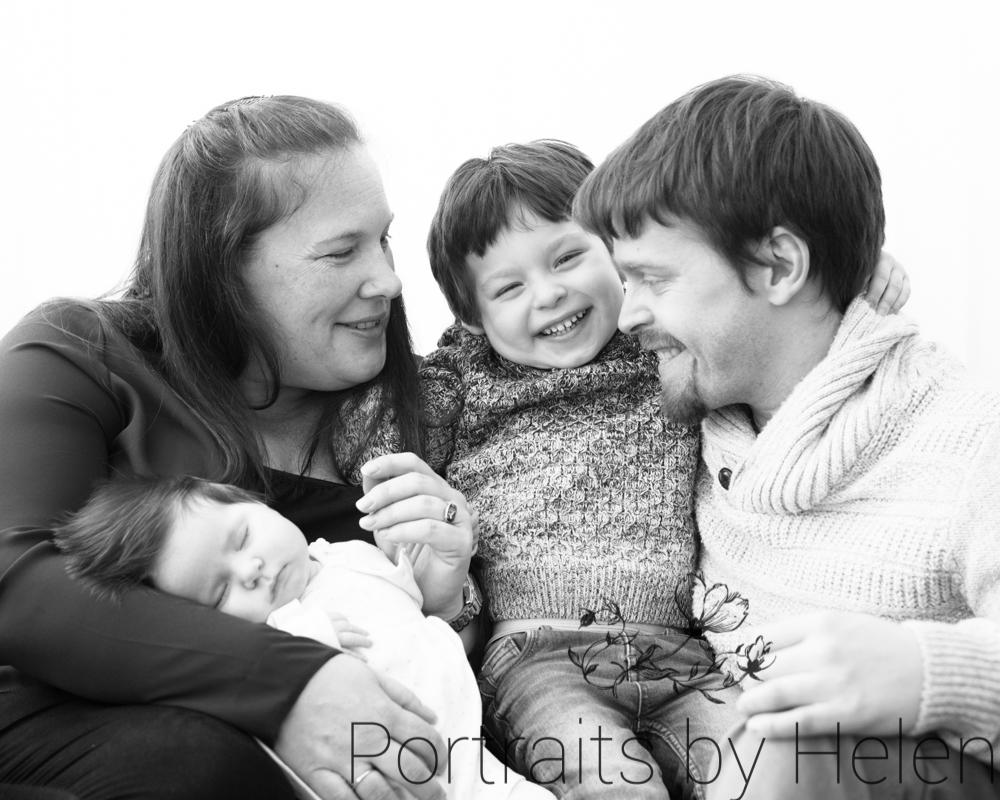 Famly laughing, Carlisle baby photographers