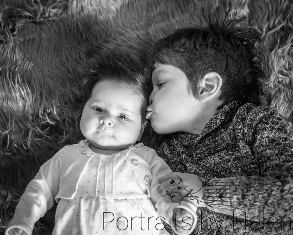 Kisses for Tilly, family photographer Workington