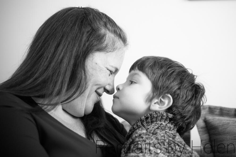 Eskimo kisses with Mum, Carlisle photographers