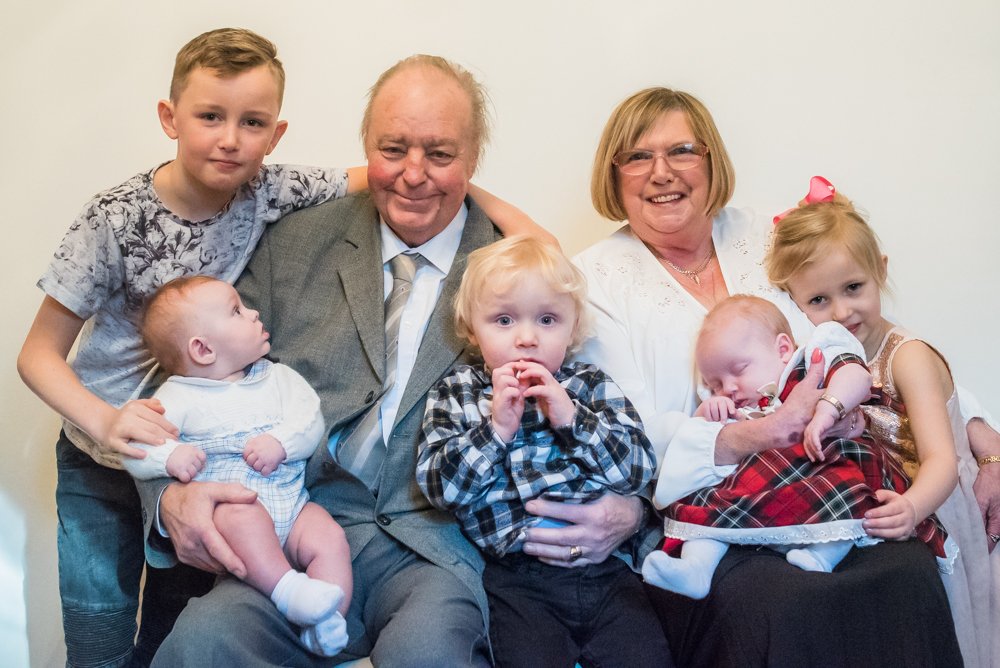 All the great grandkids, baby photographer Cumbria