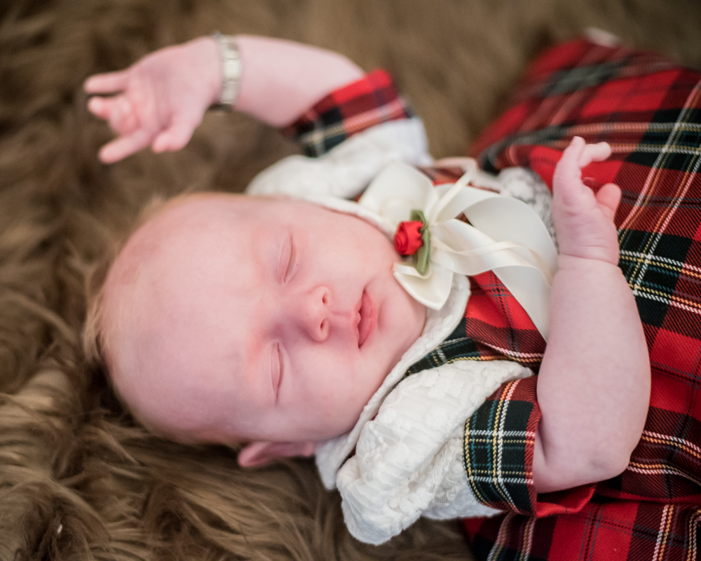 Baby smiling, newborn photographer Carlisle