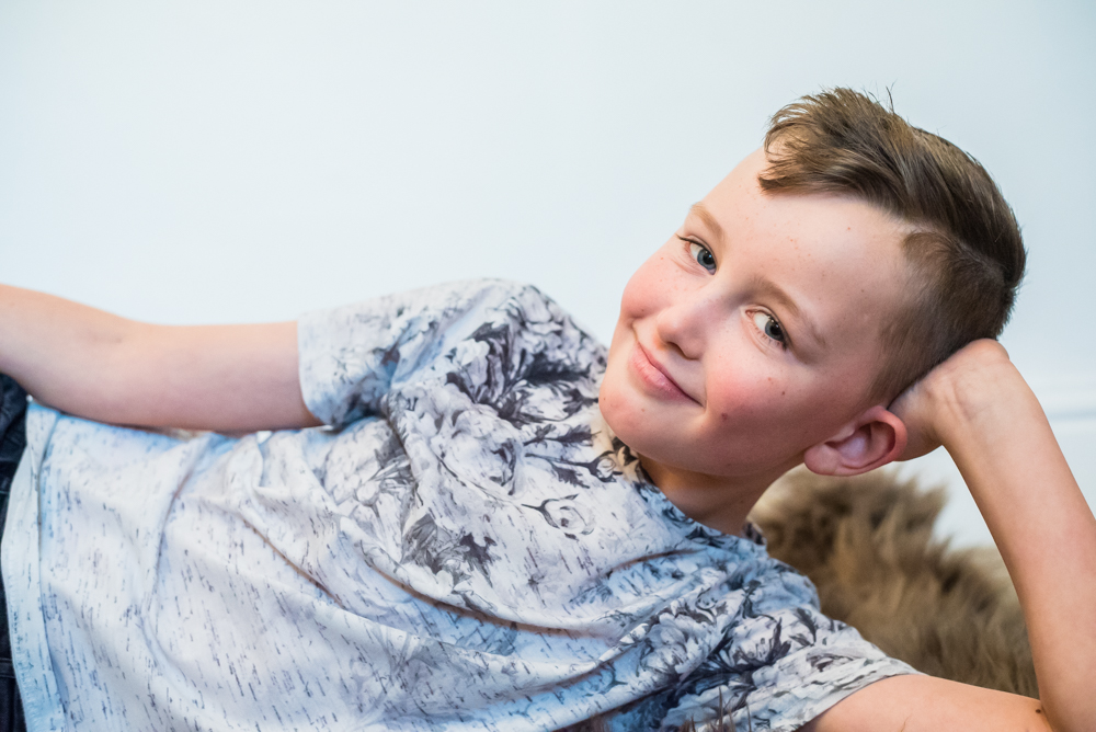 Posing for camera, Maryport family photographer