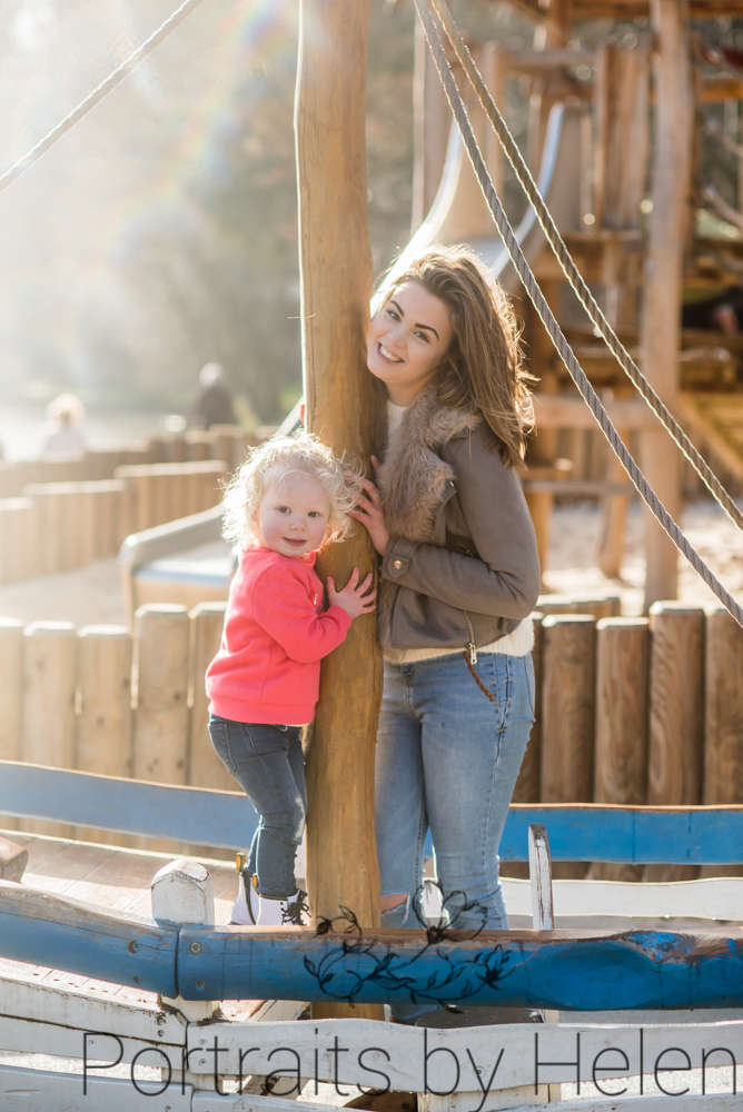 Darcy and big sister on boat, Cumbria photographer