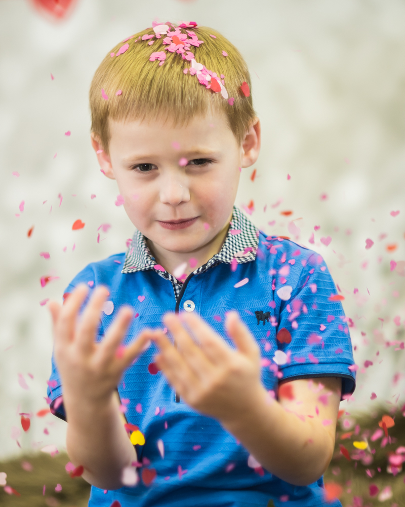heart confetti, newborn portraits Maryport