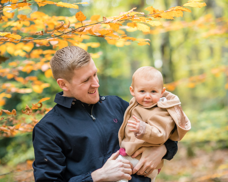 Phoebe and Dad, Ecclesall Woods family photographers