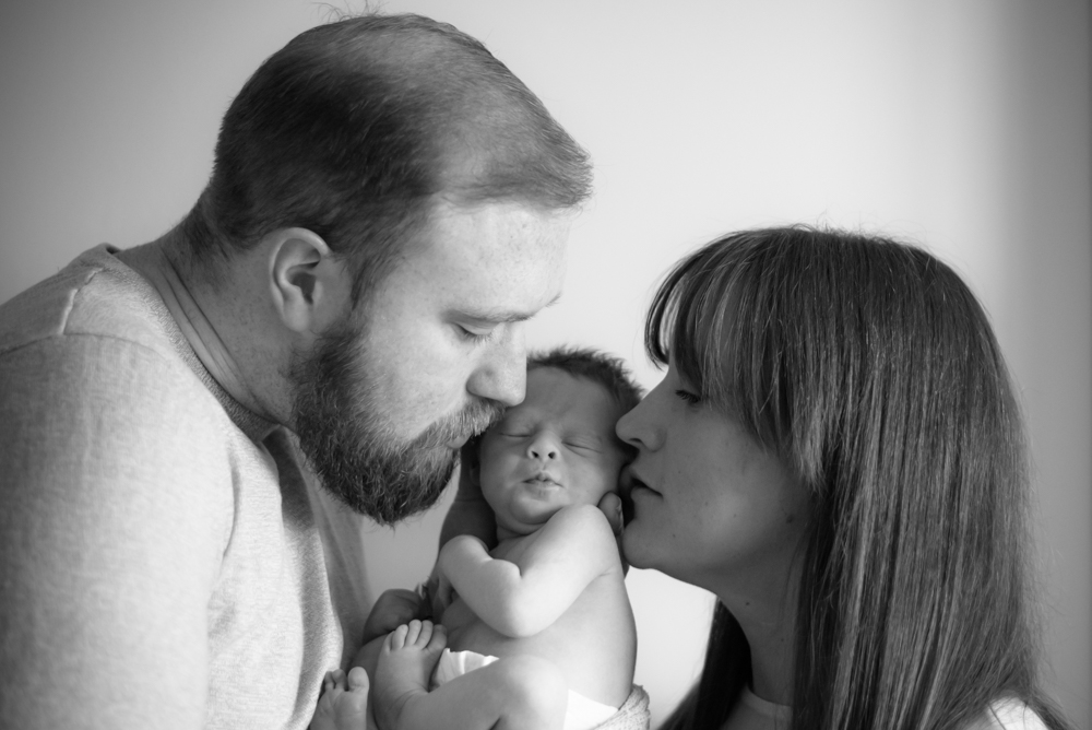 Kisses for baby, Maryport baby photographer