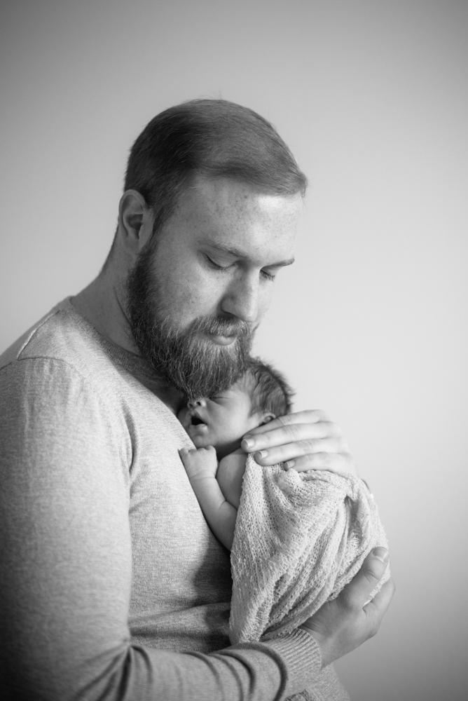 Dad snuggling baby, newborn portraits Carlisle