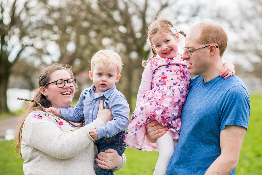 Family portraits, Cumbria spring photographs