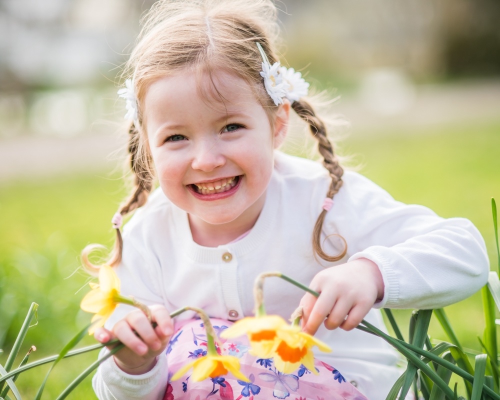 Collecting daffodils, Cockermouth baby portraits