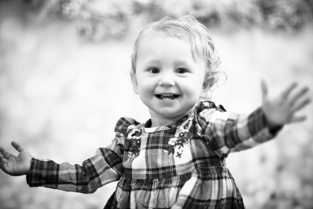 Waving at camera, Maryport family portraits