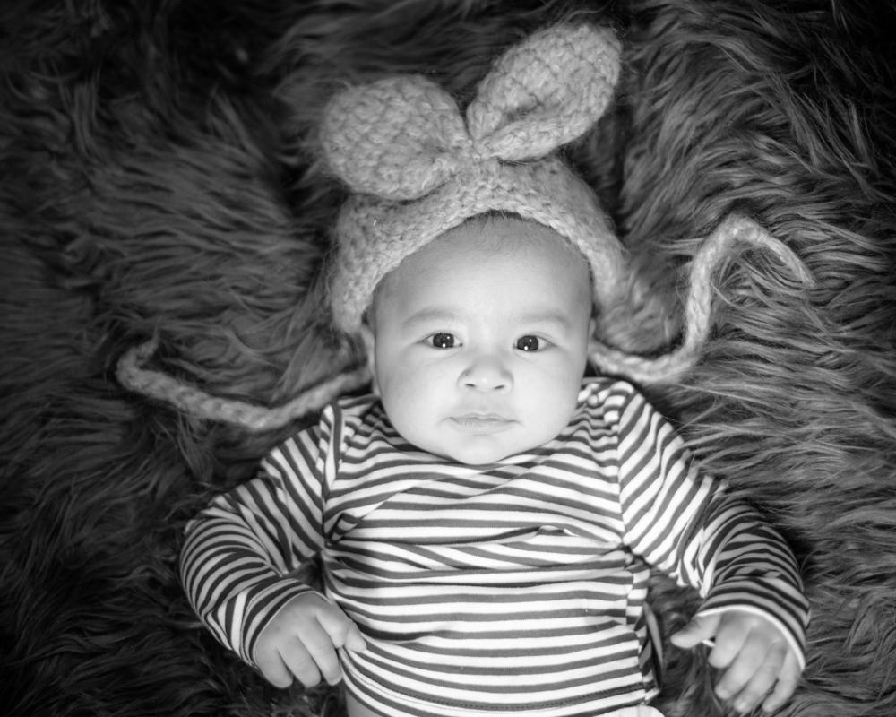 Bunny ears Amman, baby photographer Cumbria