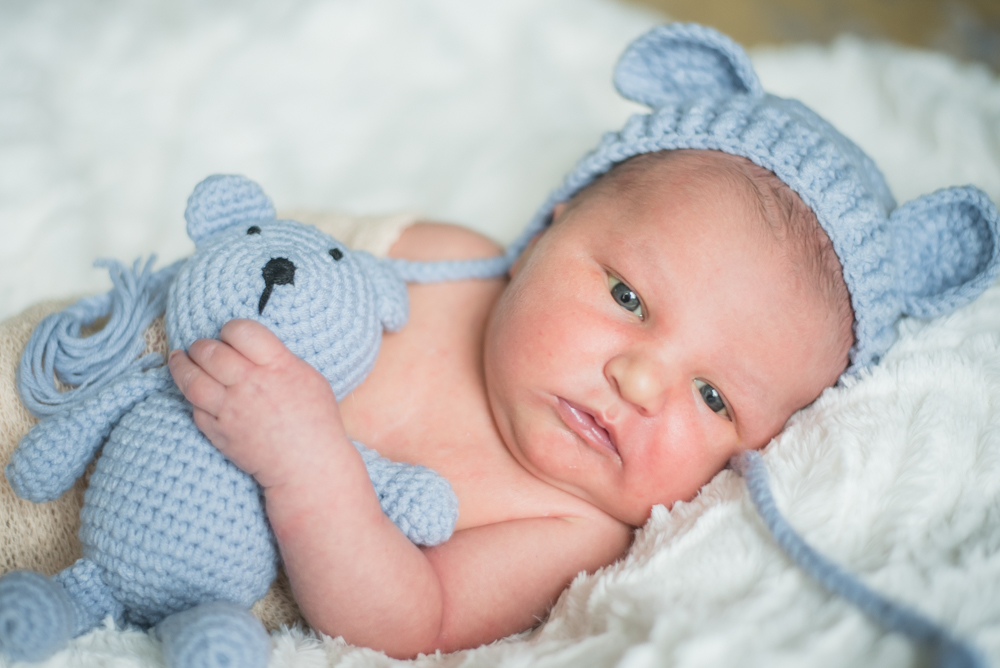 Teddy hat, newborn photographer Cockermouth