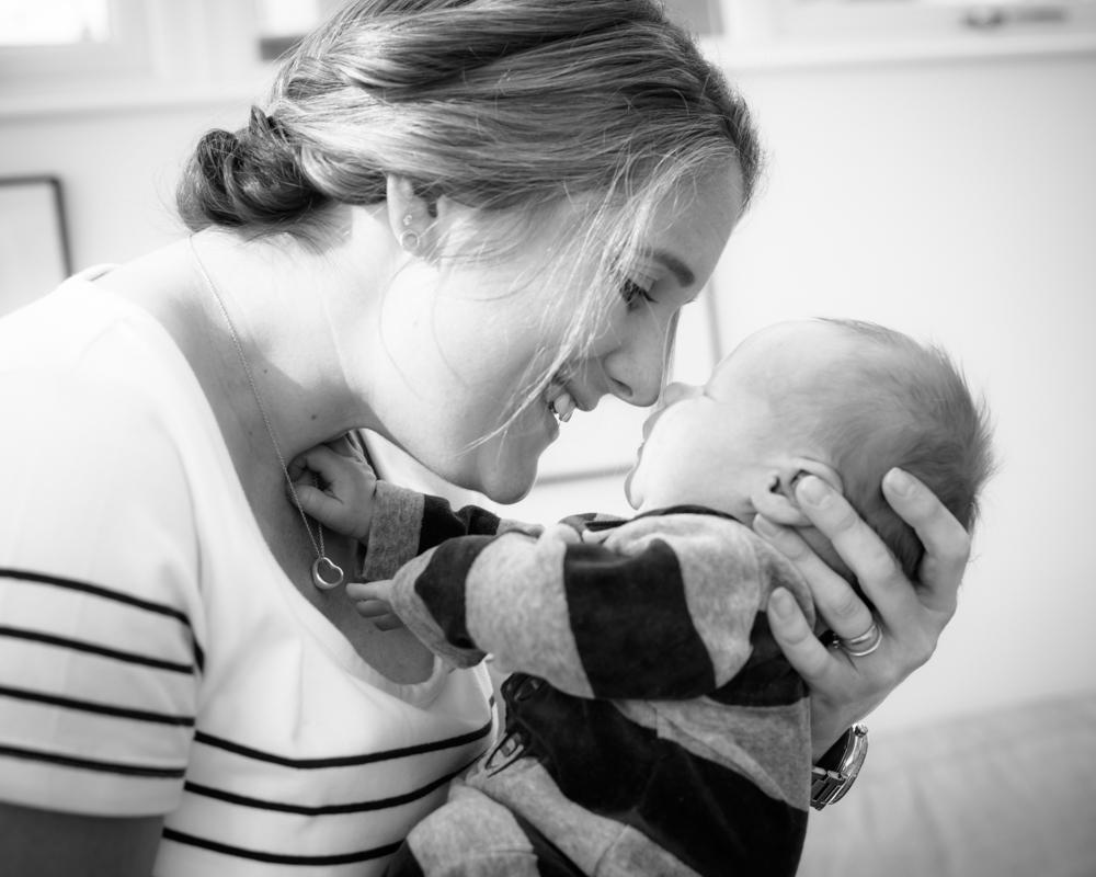 Eskimo kiss with Mum, newborn portraits Cumbria