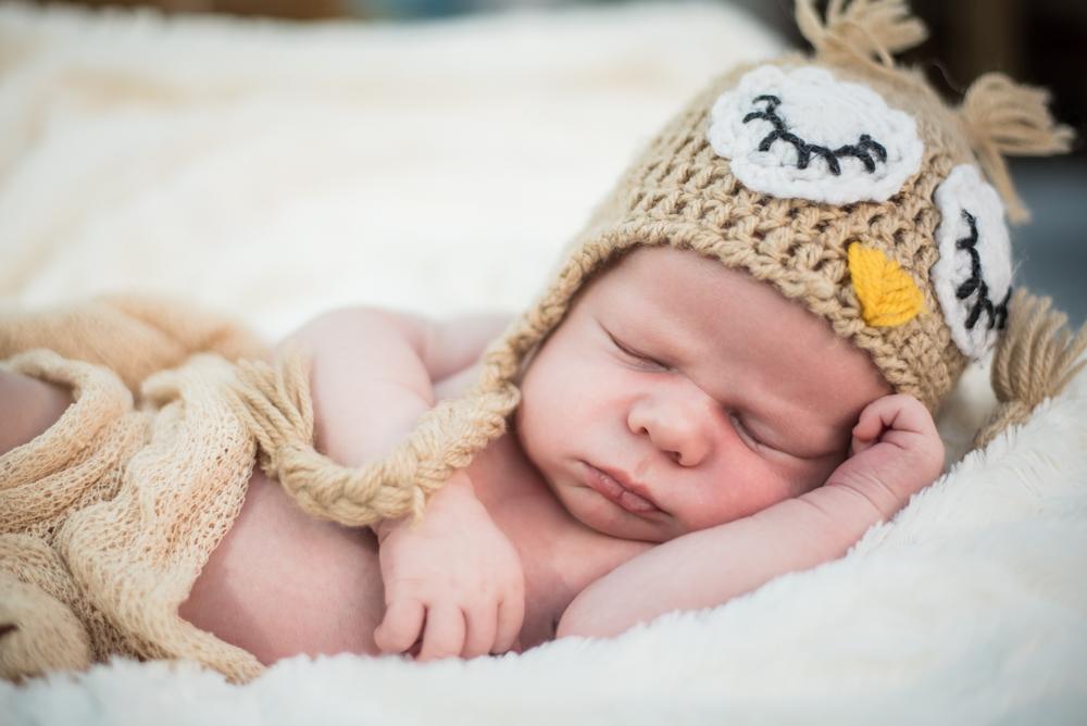 Owl hat, baby photographer Wigton