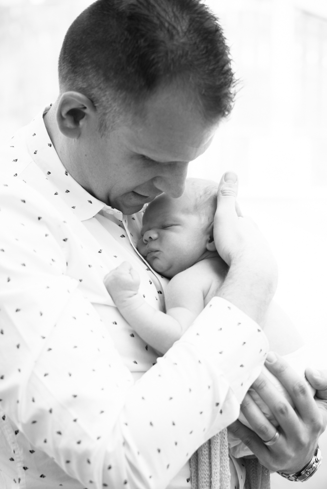 Cuddles from Dad, newborn portraits Cockermouth