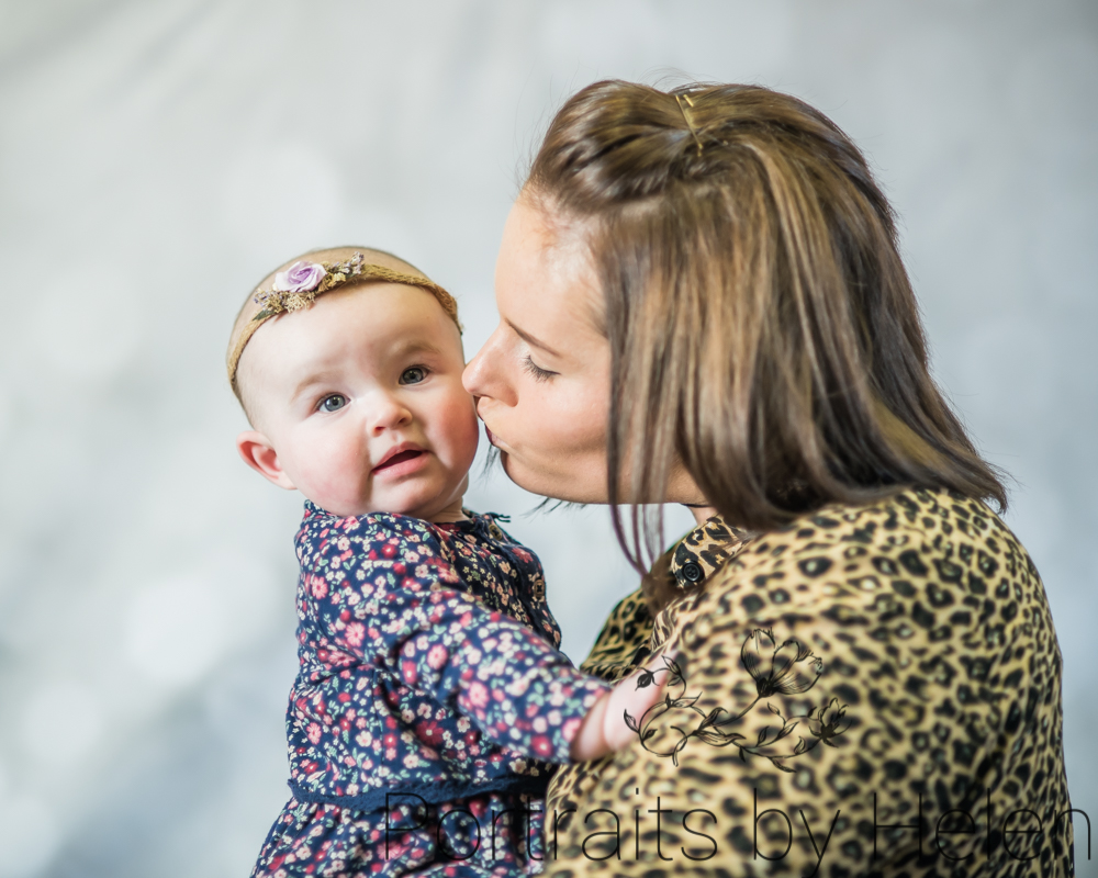 Mum kissing Skye, Mother's Day photography