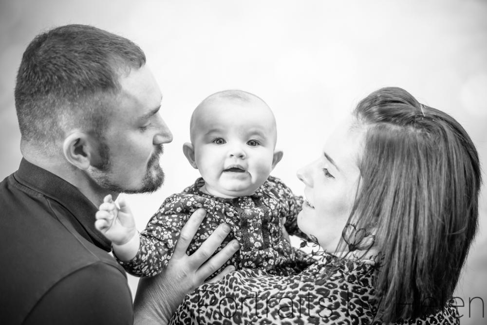 With Mum & Dad, baby photographer Cumbria