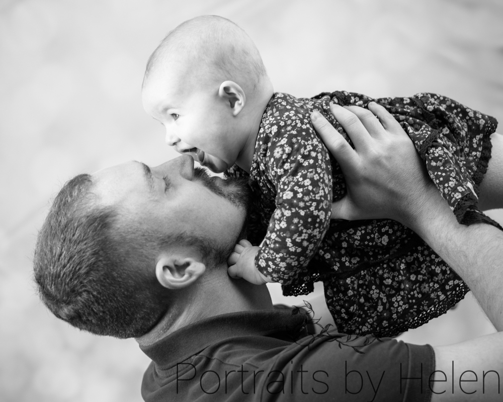 Flying with Dad, newborn photographer Keswick