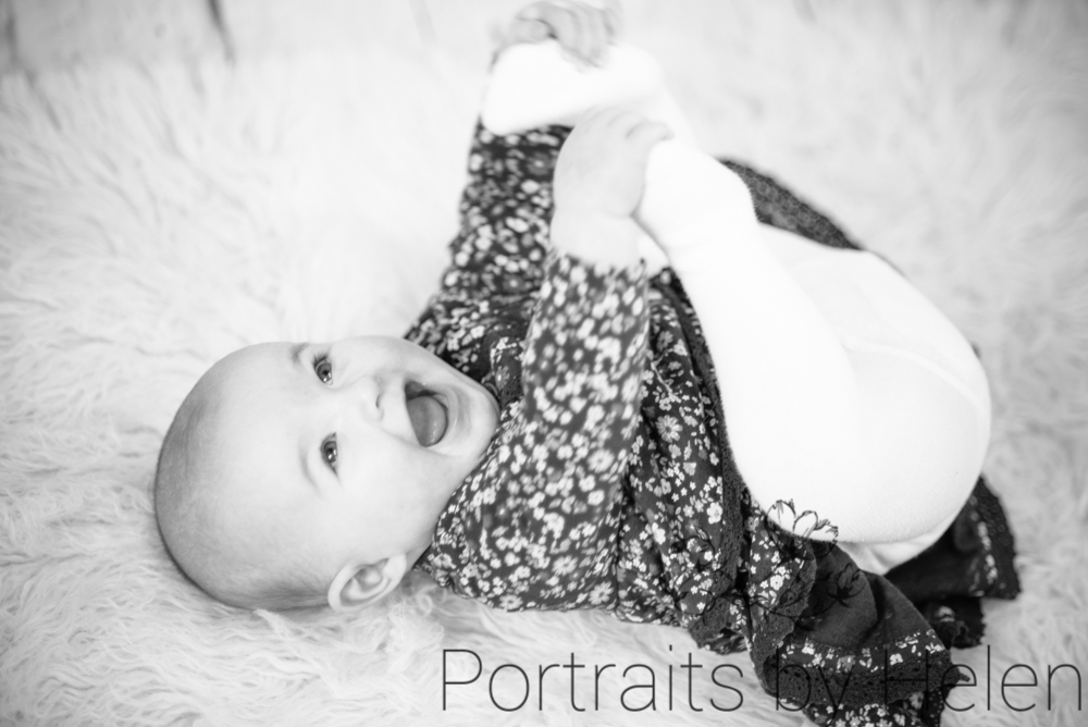 Touching toes, Cockermouth baby portraits