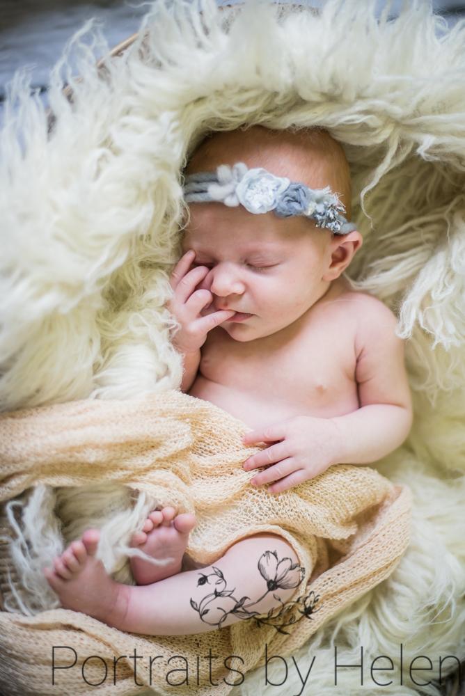 Issy with headband, Aspatria baby photographers