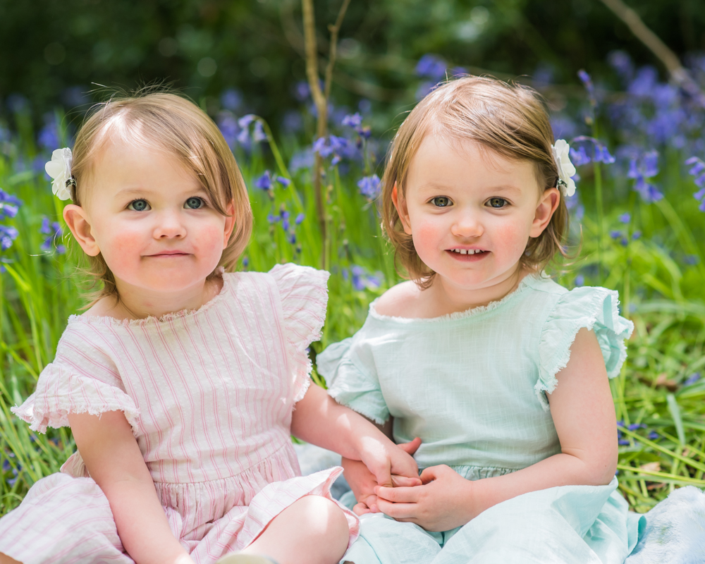 Sister in the woods, Sheffield baby photographers