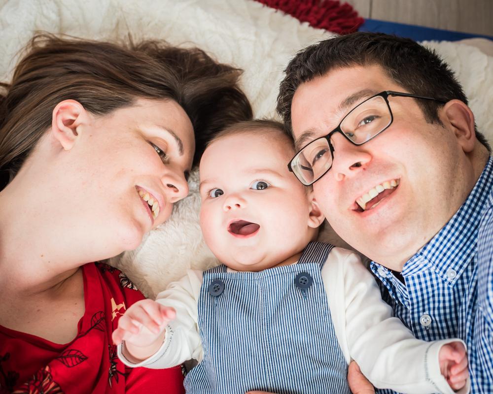 Smiles together, family photographer Cumbria