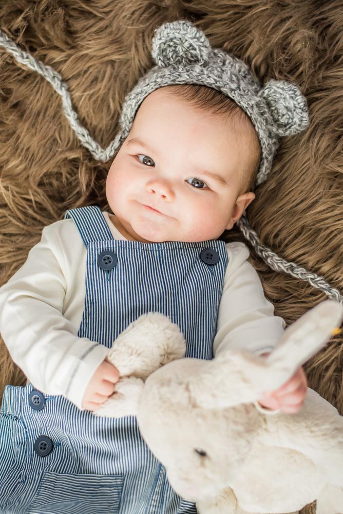 Cheeky face, newborn photographer Carlisle