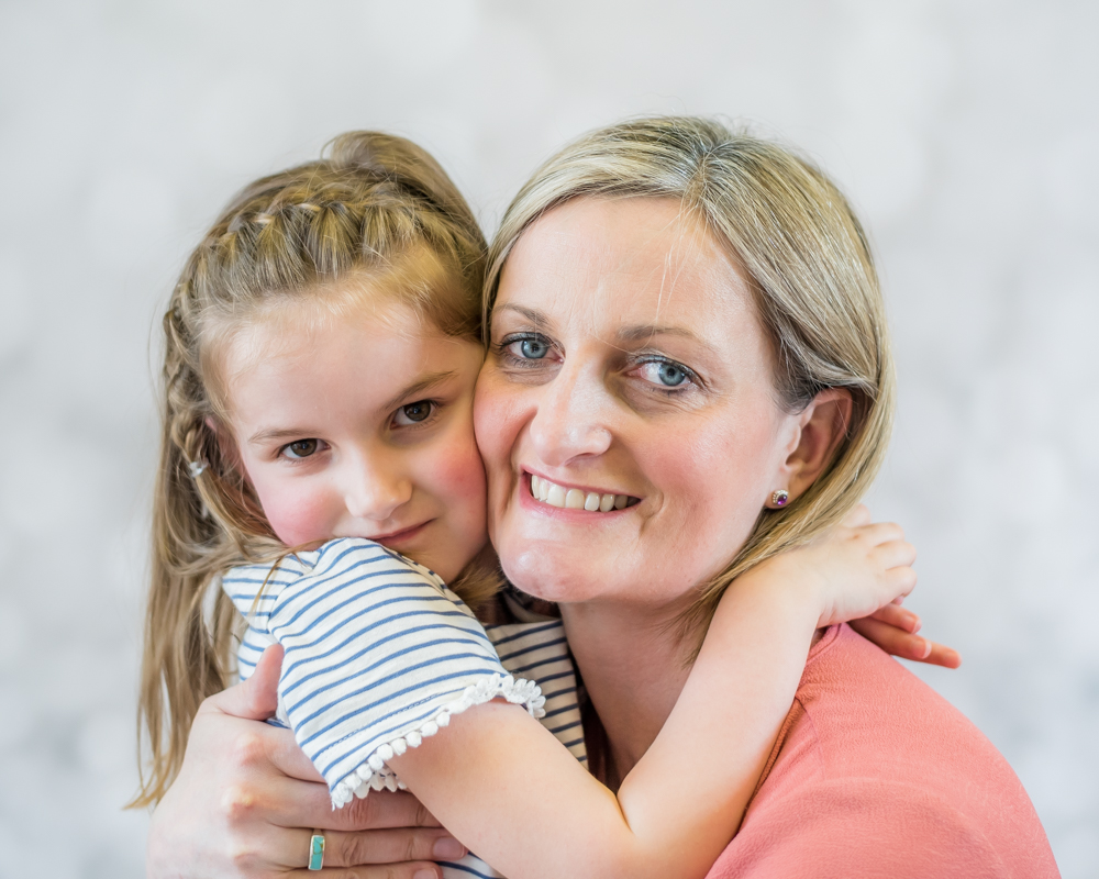 Mum and daughter cuddle, Allonby baby photographs