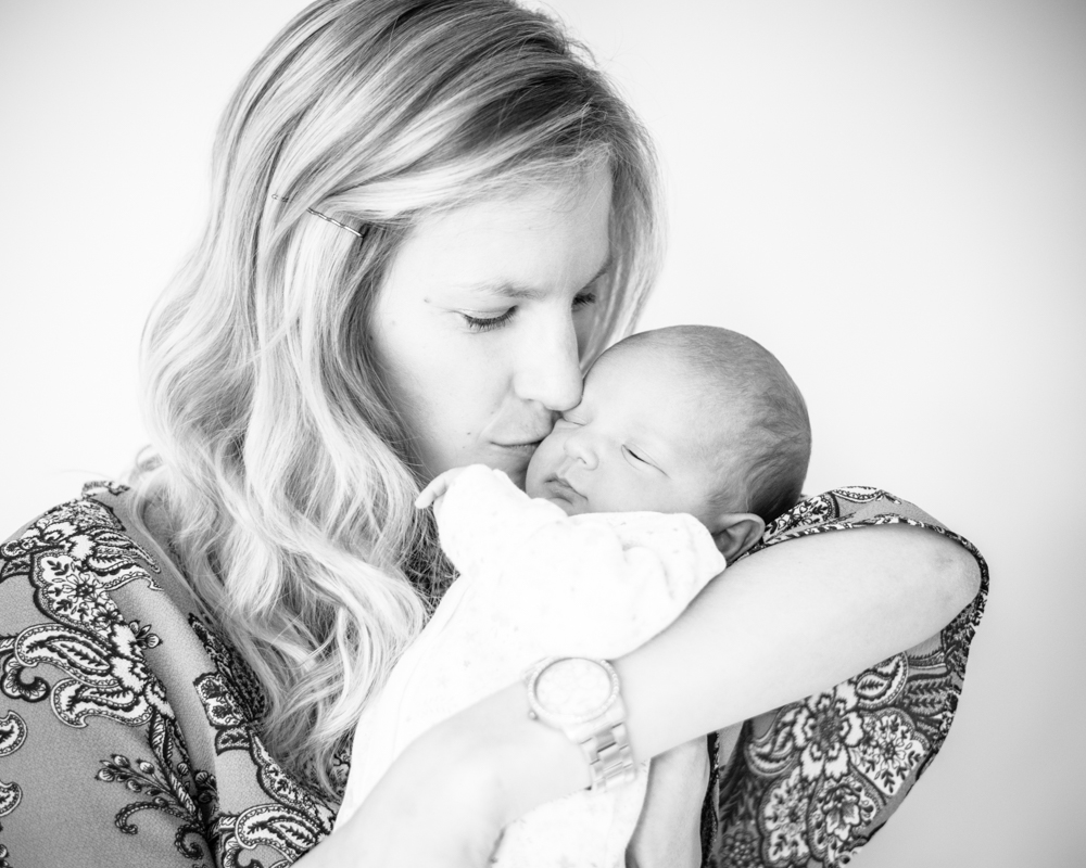 Kisses from Mum, newborn portraits Carlisle