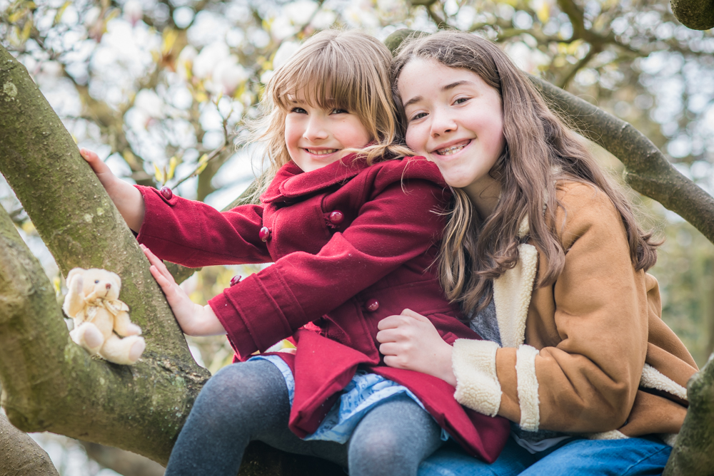 Sitting in the magnolia tree, Keswick baby photographers