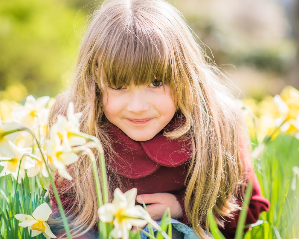 Gina in daffodils, Keswick baby photographer