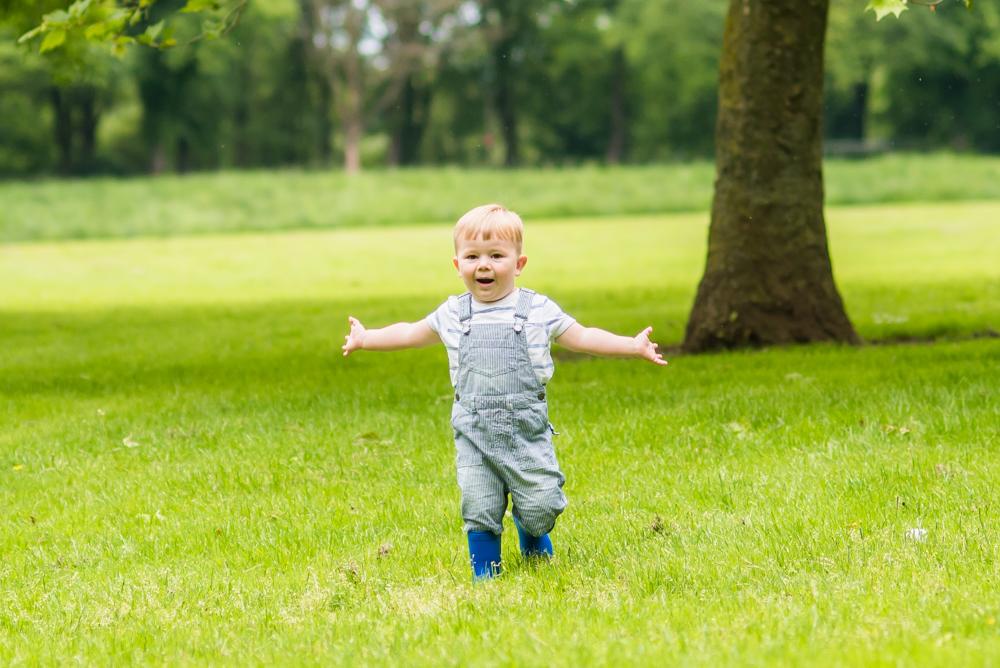 Freddie running, Carlisle baby photographers