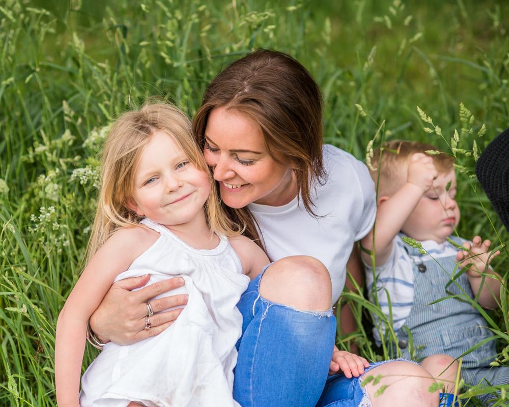 Mum cuddling Katie, Carlisle family photographers