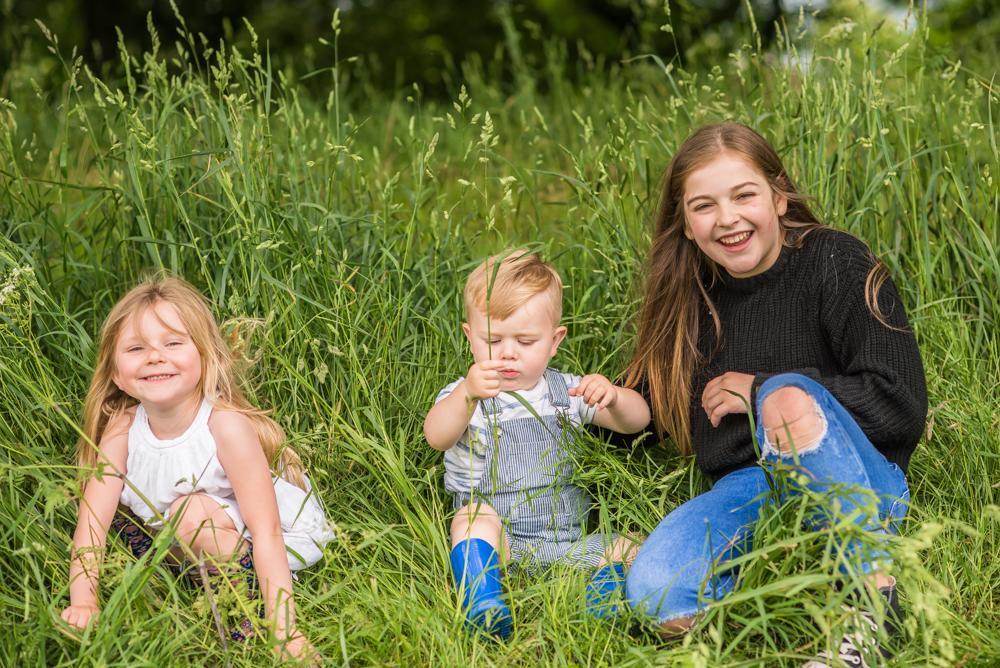 Family hiding together, Carlisle family photographers