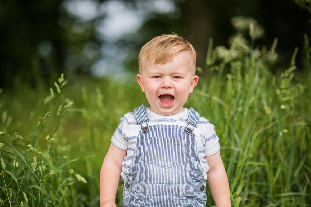 Freddie roaring, Carlisle family photographers