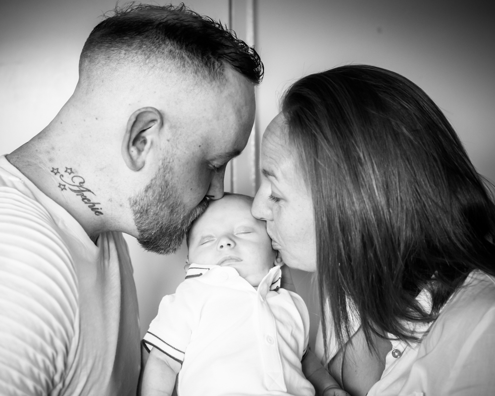 Kisses for Chester from Mum & Dad, Carlisle newborn portraits