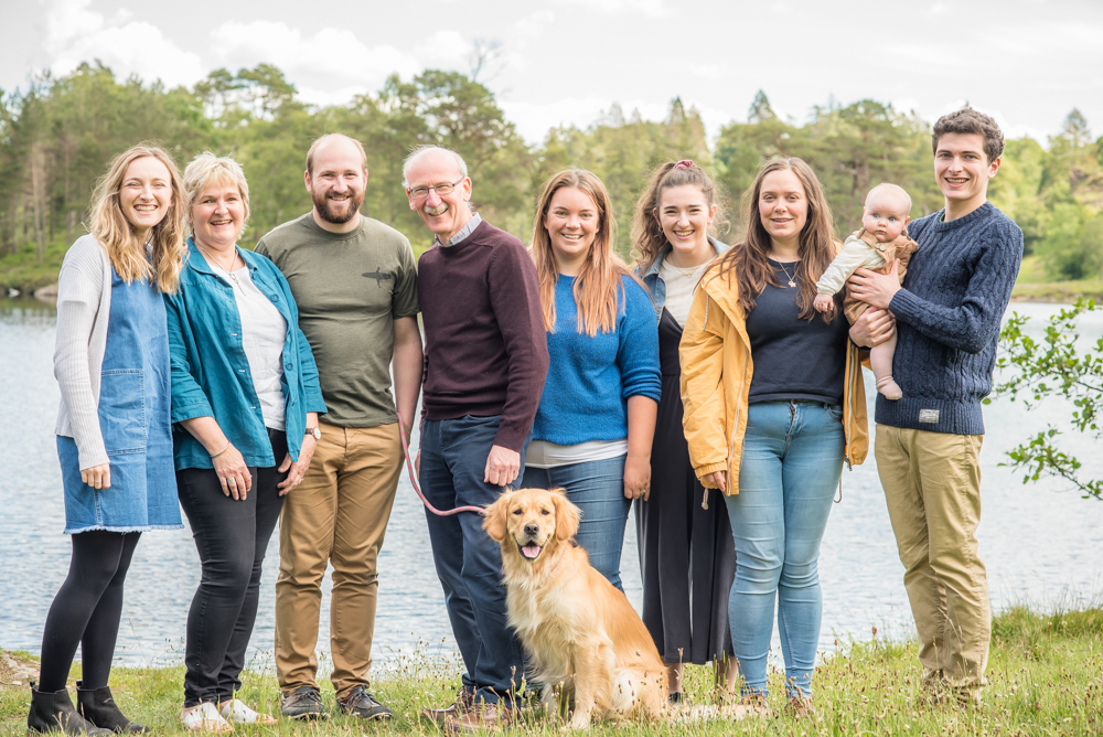 Huey family portrait at Tarn Hows