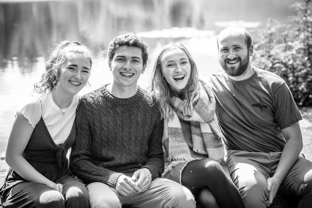 Siblings laughing, baby photographer Carlisle