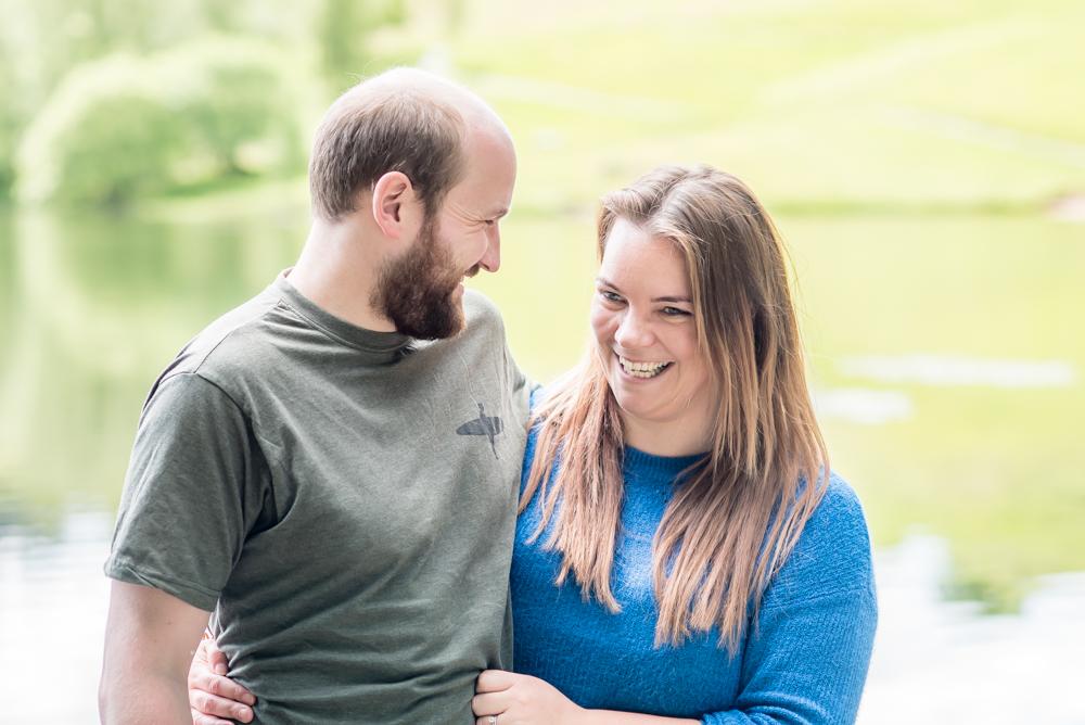 Couple laughing together, Carlisle photographer