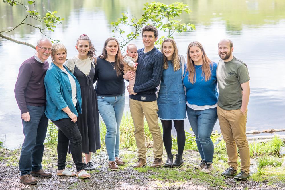 Family posing, Tarn Hows portraits