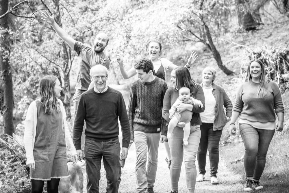 Larking around, family portraits Tarn Hows