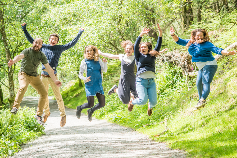 The young ones jumping, Tarn Hows, Lake District