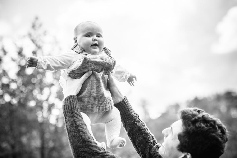 Flying baby, newborn photographer Cumbria