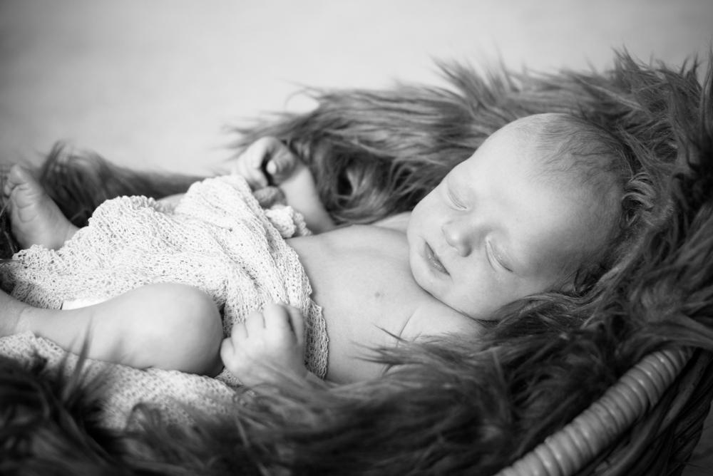 Sleeping in fluffy blanket, baby photographers Carlisle