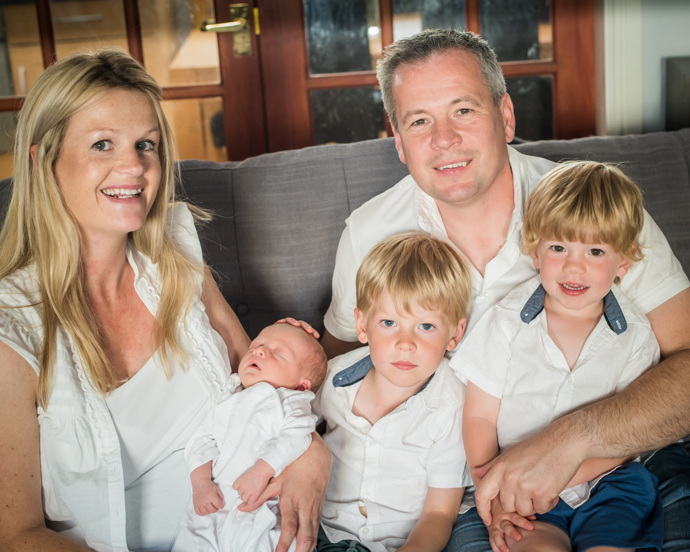 Family portrait, Wigton newborn photography