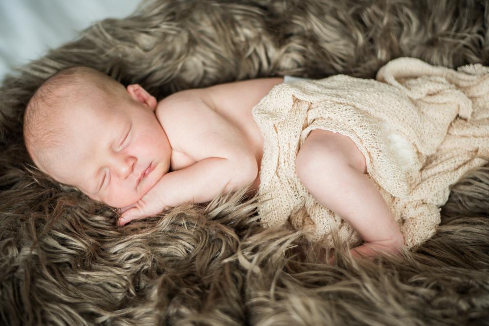 Sleeping baby Rory, newborn portraits Cockermouth