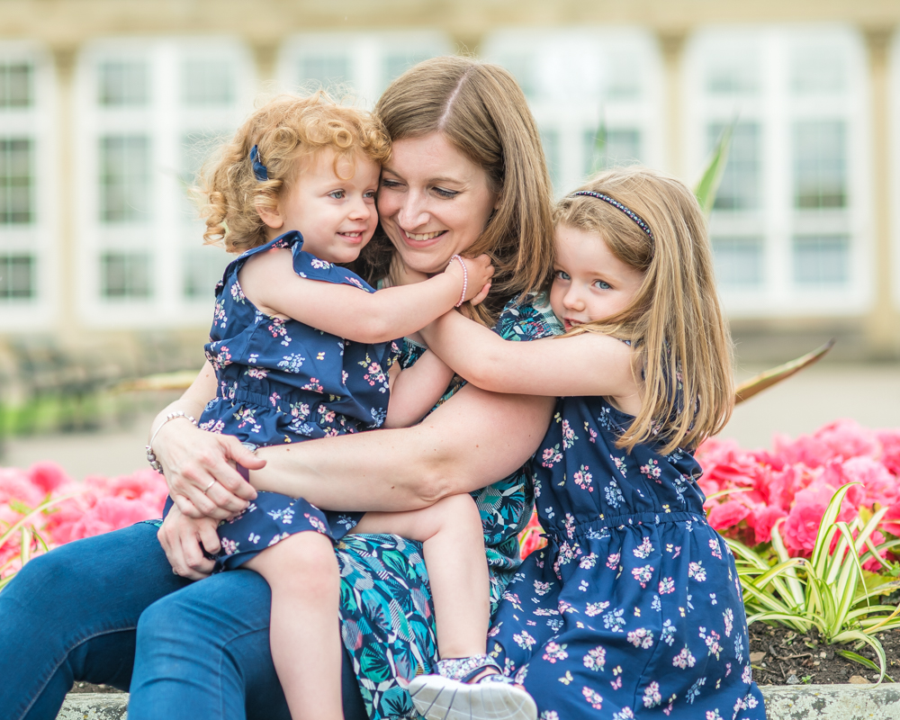 Mama cuddles in the summer sunshine, Carlisle baby portraits