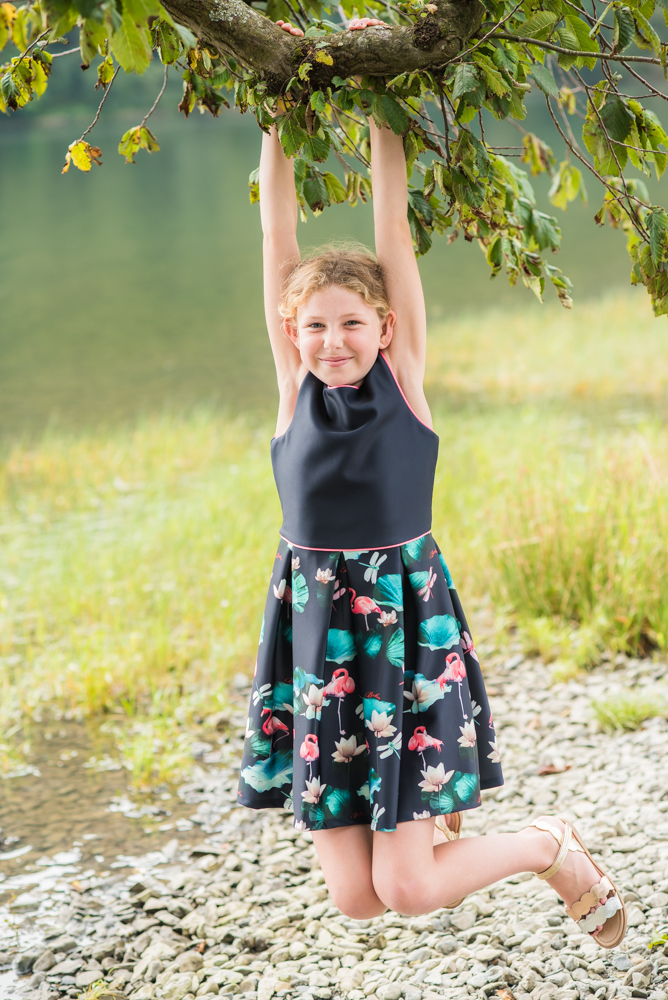 Swinging on a tree. baby photographers Keswick
