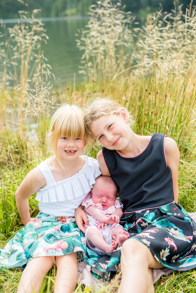 Three sisters - Buttermere newborn photo session